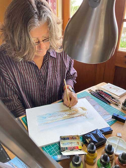 Karen Halsey - Artist at work
